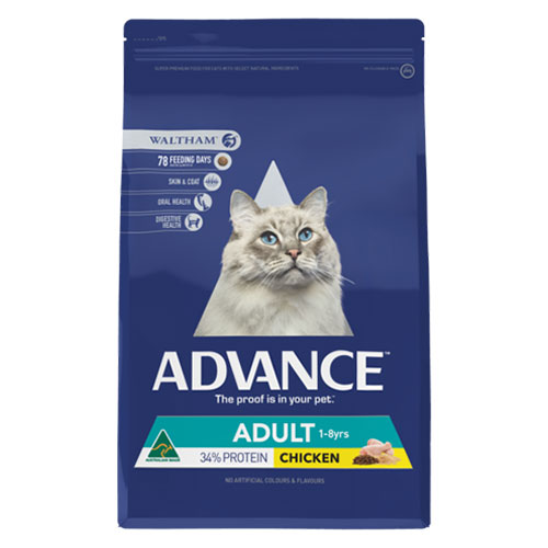 Advance Adult Cat Total Wellbeing with Chicken Dry Food for Food