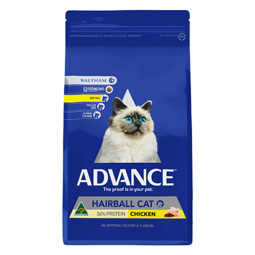 Advance Adult Cat Hairball Control with Chicken Dry for Food