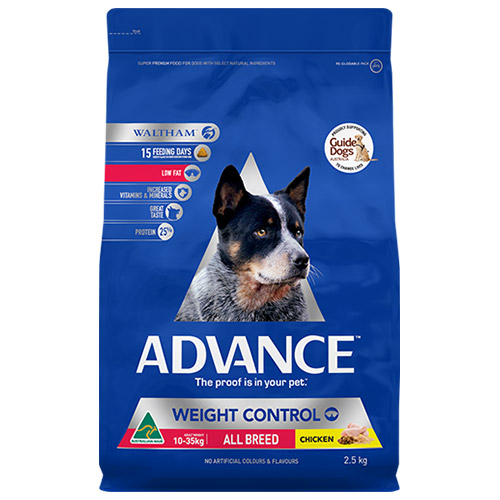 Advance Dog Food Adult Weight Control with Chicken for Food