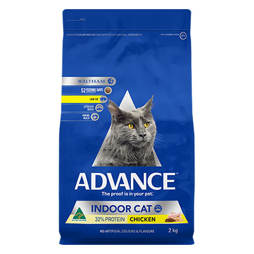 Advance Adult Indoor With Chicken Dry Cat Food for Food