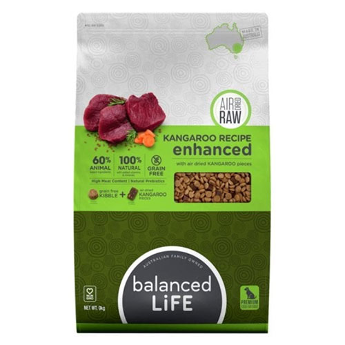 Balanced Life Enhanced Dry Dog Food With Kangaroo Meat Pieces for Food