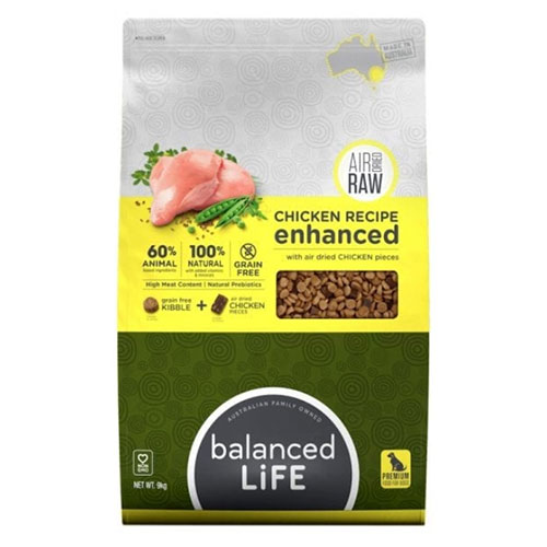 Balanced Life Enhanced Dry Dog Food With Chicken Meat Pieces for Food