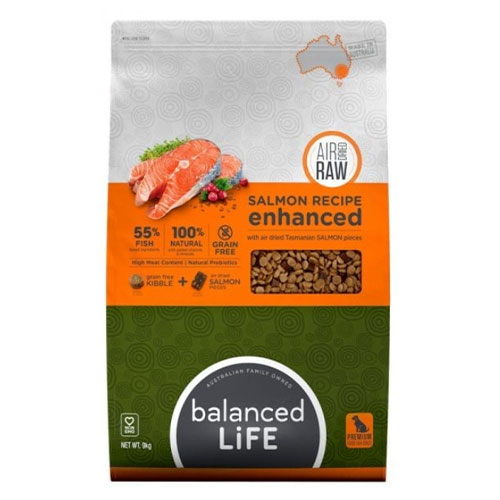 Balanced Life Enhanced Dry Dog Food With Salmon Pieces for Food