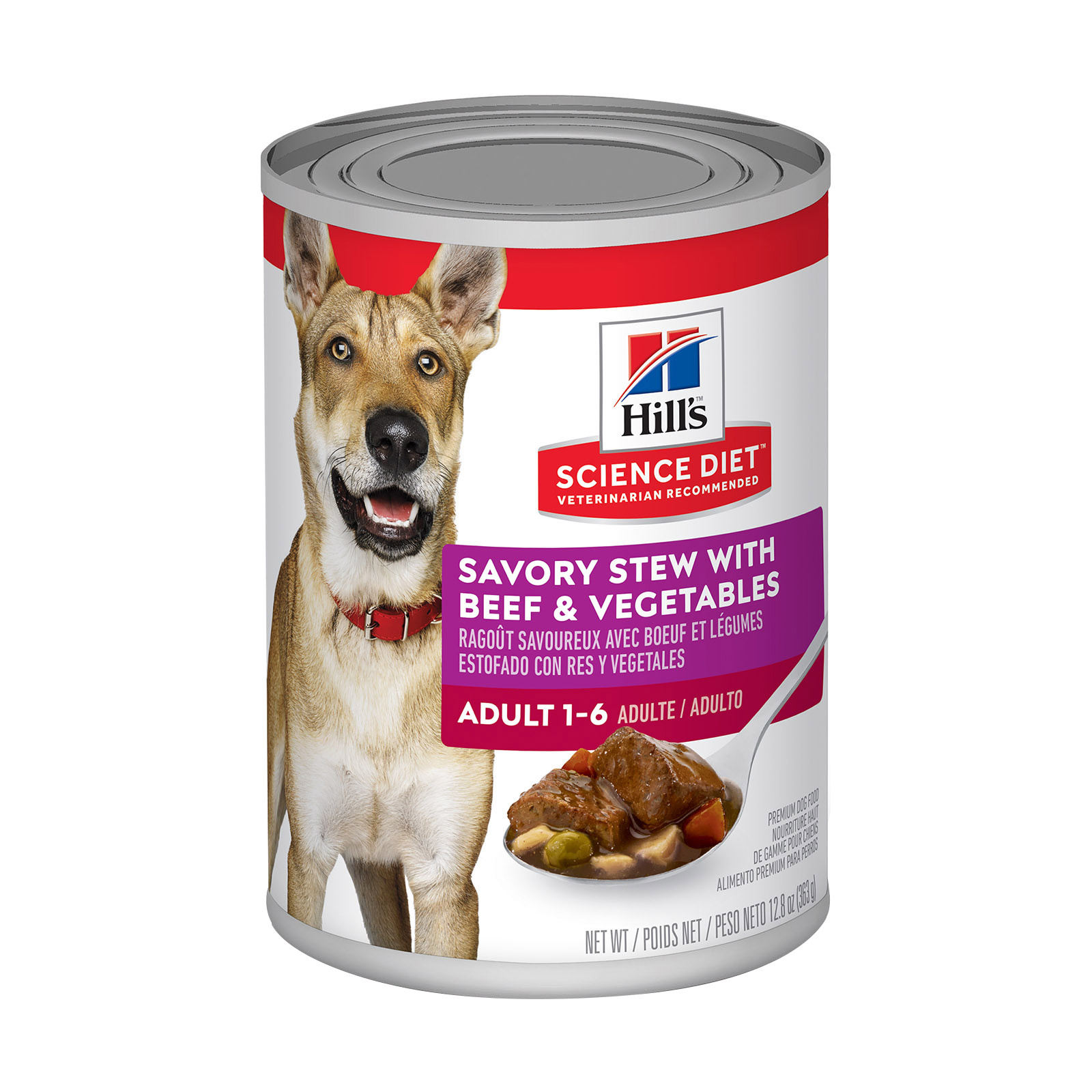 Hill's Science Diet Adult Savory Stew Beef & Vegetable Canned Dog Food 363 Gm
