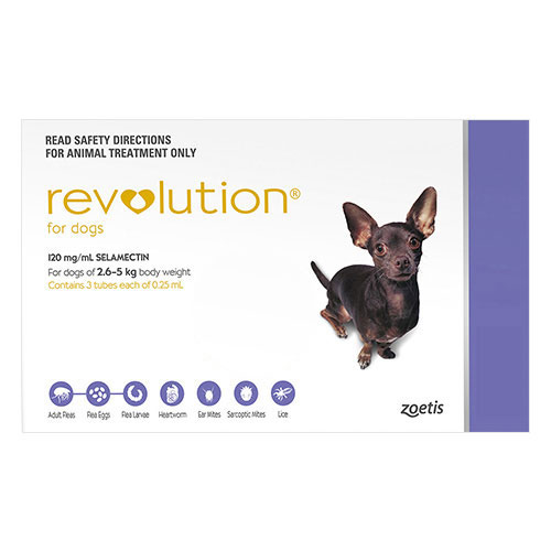 Revolution For Very Small Dogs 2.6 To 5Kg (Purple)