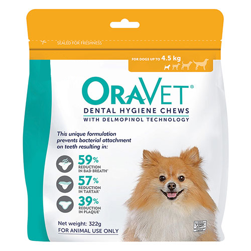 Oravet Dental Chews for X-Small Dogs (3 Pieces) Orange