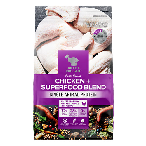 Billy & Margot Dog Adult Chicken and Superfoods for Food