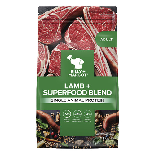 Billy & Margot Dog Adult Lamb and Superfoods for Food