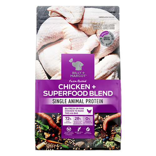 Billy & Margot Dog Adult Morsels in Gravy Chicken with Superfoods for Food