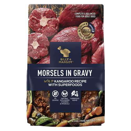 Billy & Margot Dog Adult Morsels in Gravy Wild Kangaroo and Superfoods for Food