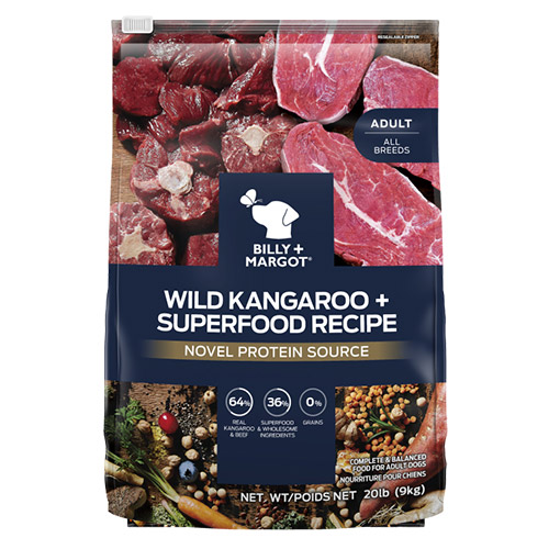 Billy & Margot Dog Adult Wild Kangaroo and Superfoods for Food