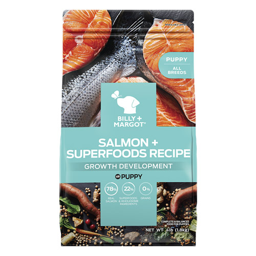 Billy & Margot Dog Puppy Salmon and Superfoods for Food