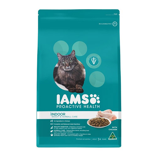 Iams ProActive Health Adult Indoor Cat Weight & Hairball Care for Food