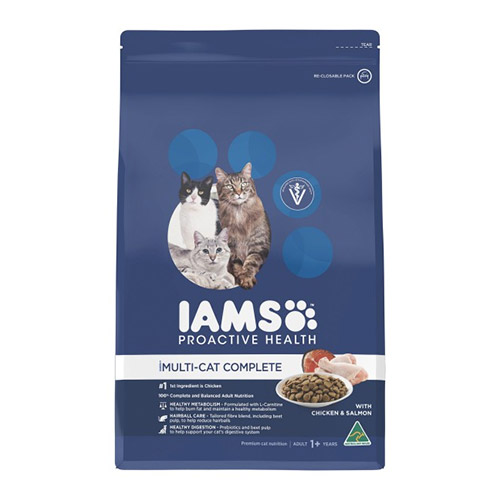 Iams Cat Adult Multi-Cat Chicken and Salmon for Food