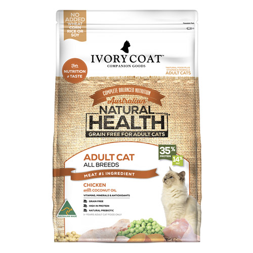 Ivory Coat Cat Adult Grain Free Chicken with Coconut Oil