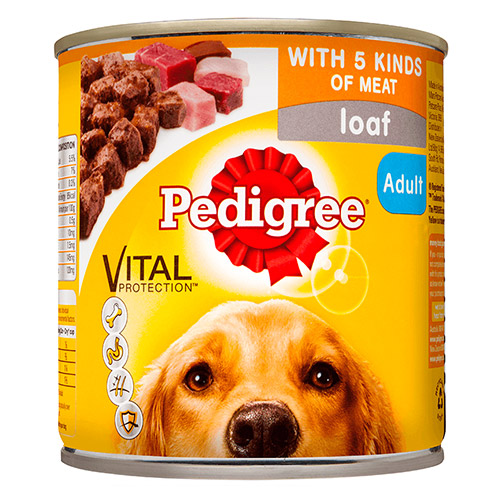 Pedigree Dog Adult Pick A Pack 5 Kinds Meat 700g X 12 Cans