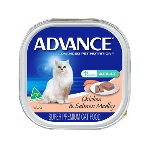 Advance Adult Cat With Chicken & Salmon Medley Cans for Food