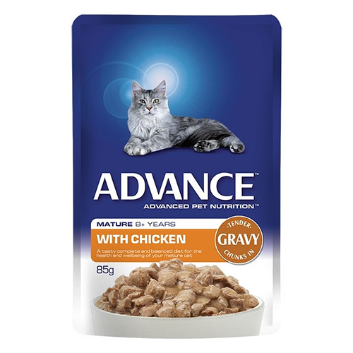 Advance Chicken in Gravy Mature Cat 8+ Years Wet Food Pouch for Food