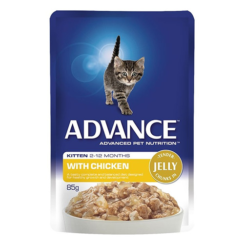 Advance Kitten Chicken in Jelly Wet Cat Food Pouch for Food