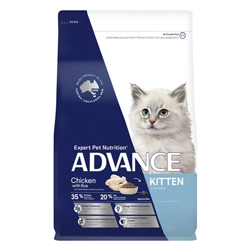 Advance Kitten Growth Dry Cat Food Chicken and Rice