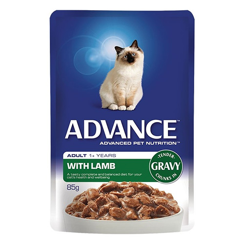 Advance Adult Cat Lamb in Gravy Wet Food Pouch for Food