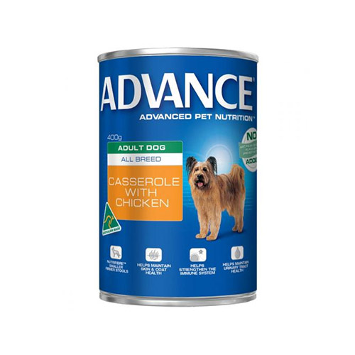 Advance Adult Dog All Breed Casserole with Chicken Cans  700 gm