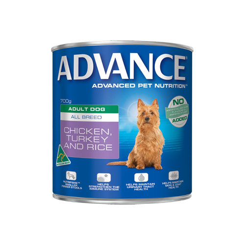Advance Adult Dog All Breed with Chicken, Turkey & Rice Cans 700 gm