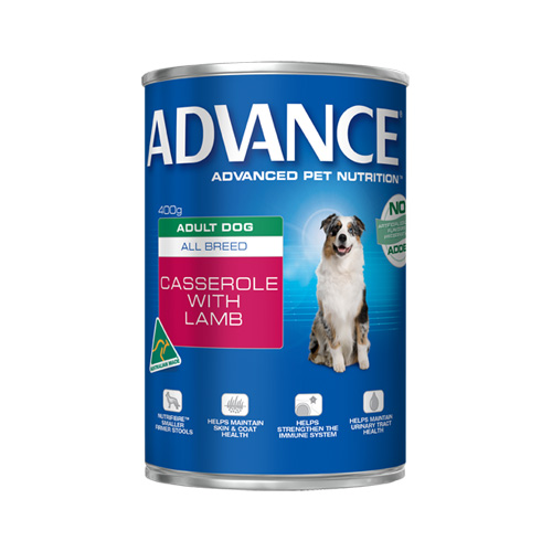 Advance Adult Dog All Breed Casserole with Lamb Cans for Food