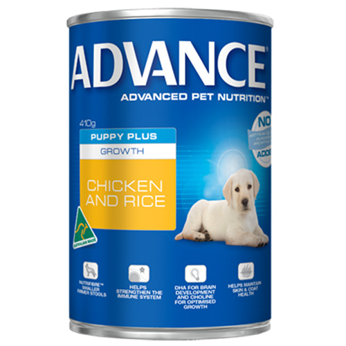 Advance Puppy Plus Growth with Chicken & Rice Cans for Food
