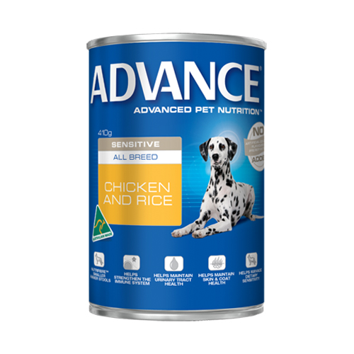 Advance Adult Dog Sensitive All Breed with Chicken & Rice Cans for Food