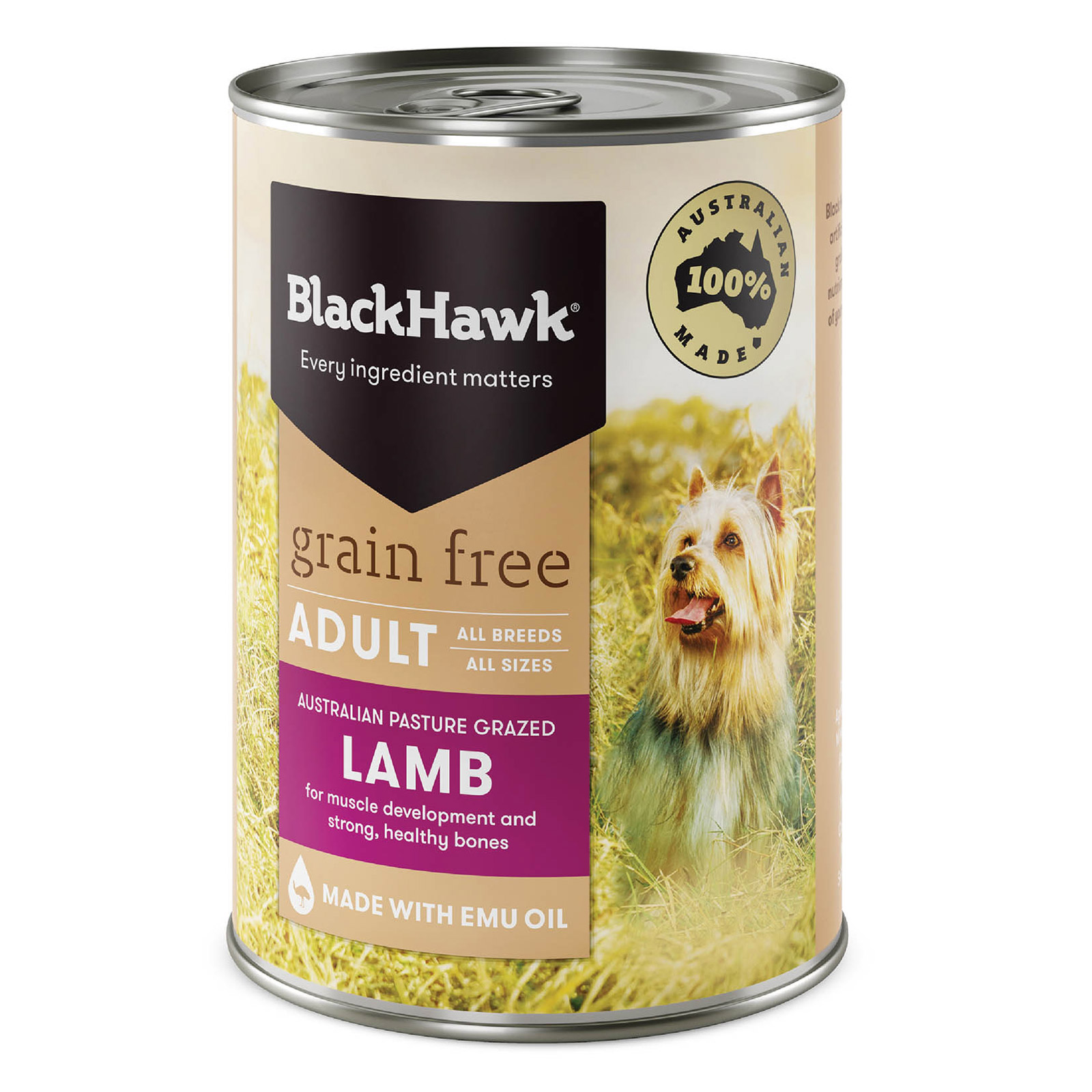 Black Hawk Grain Free Lamb Canned Dog Food  400 gm