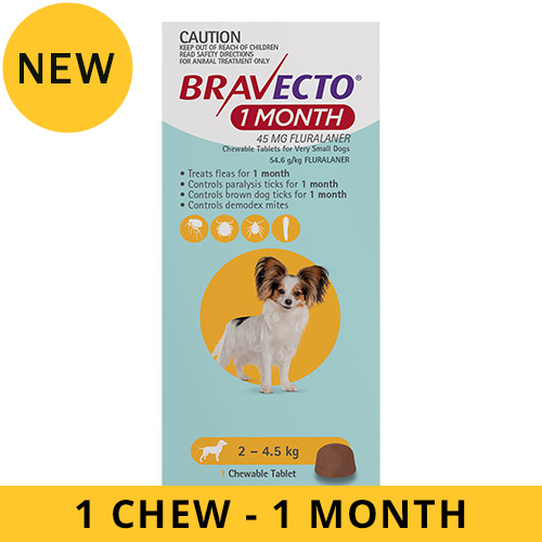 Bravecto 1 Month Chew for Dogs for Dogs