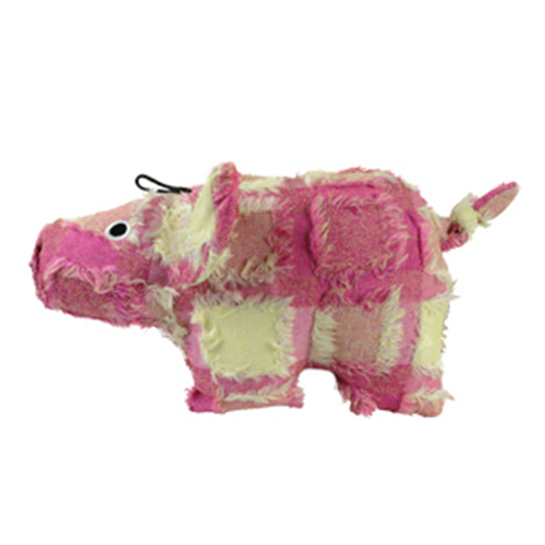 Hyper Patchwork Palz Pig Dog Toy for Dogs