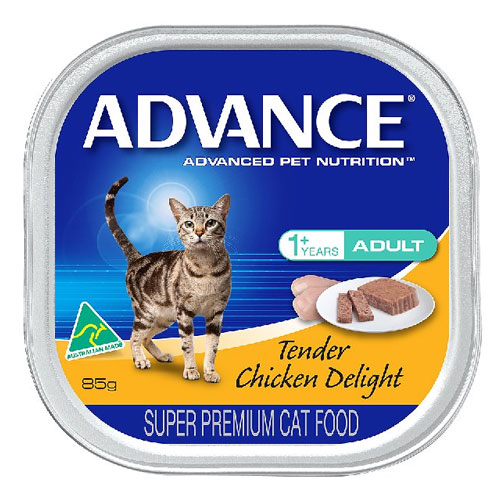 Advance Adult Cat with Tender Chicken Delight Cans for Food