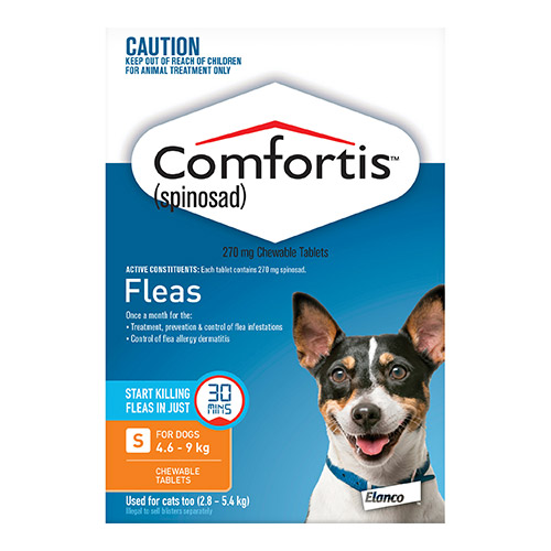 Comfortis Chewable Tablets For Dogs 4.6 - 9 Kg (Orange)