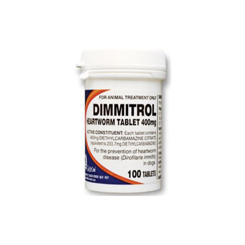 Dimmitrol Tablets For Large Dogs 400Mg (Orange)
