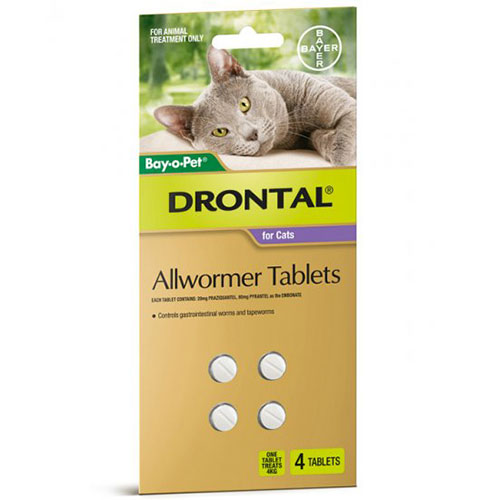 Drontal Wormers - Cats For Small Cats 4Kg