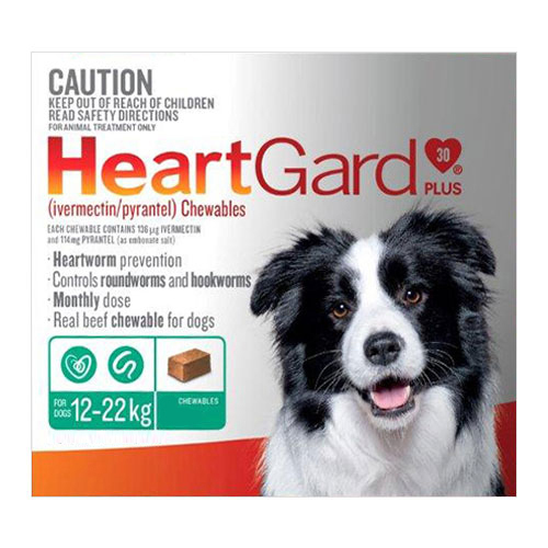 Heartgard Plus Chewables For Medium Dogs 12 To 22 Kg (Green)