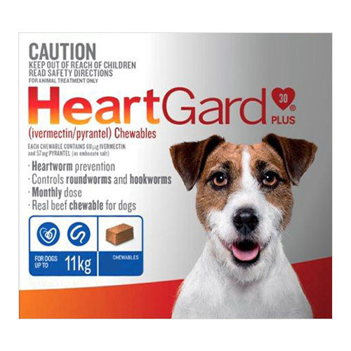 Heartgard Plus Chewables For Small Dogs Up To 11Kg (Blue)