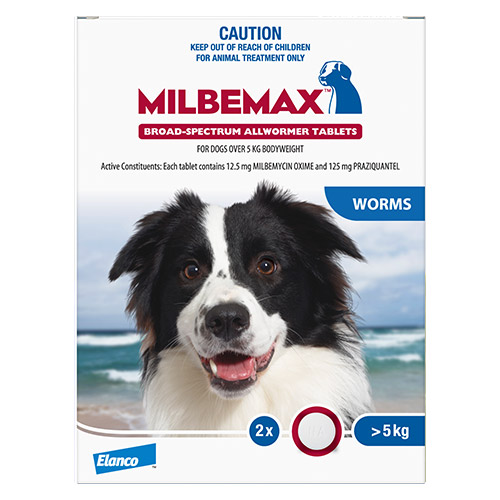 Milbemax Allwormer Tablets For Large Dogs 5 To 25 Kg