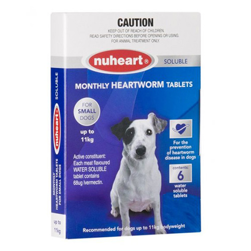 Nuheart For Dogs Generic Heartgard For Small Dogs - Nuheart Up To 11Kg (Blue)
