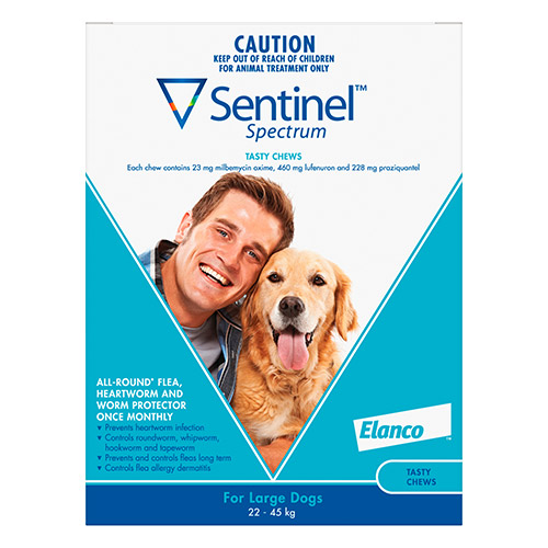 Sentinel Spectrum Tasty Chews For Large Dogs 22 To 45Kg (Blue)