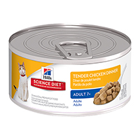 Hill's Science Diet Mature Adult Tender Chicken Dinner Feline Cans