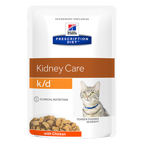 Hill's Prescription Diet k/d Kidney Care with Chicken Cat Wet Pouch
