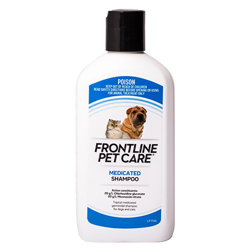 Frontline pet care medicated shampoo