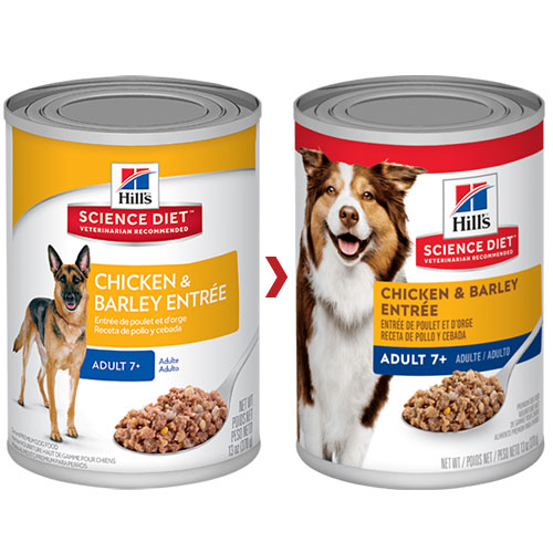 Hill's Science Diet Adult 7+ Chicken & Barley Entrée Canned Dog Food