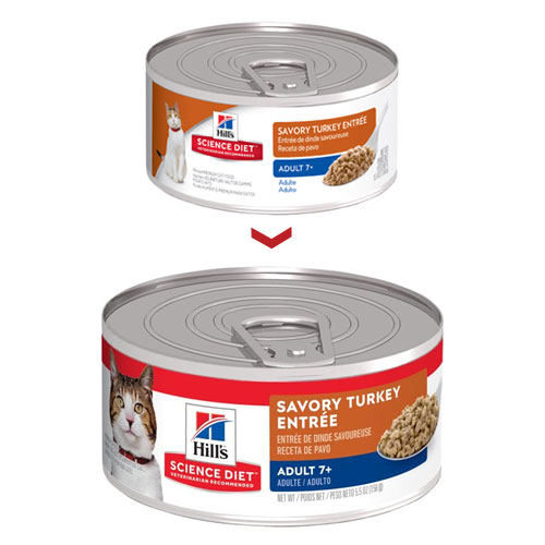 Hill's Science Diet Adult 7+ Savory Turkey Entree Feline Cans