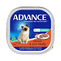 Advance Adult Cat with Chicken & Liver Medley Cans