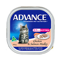 Advance Kitten with Chicken & Salmon Cans
