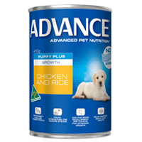 Advance Puppy Plus Growth with Chicken & Rice Cans